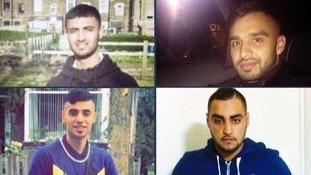 The four men were declared dead at the scene