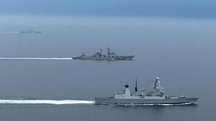 Royal Navy keeps close eye on Russian warships in English Channel