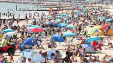 In typical British fashion, people have flocked to beaches in this nationwide heatwave.
