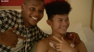 A special performance: The Voice finalist, Donel, visits children's hospital