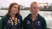 Ireland Women's captain Katie Mullan and goalie Ayeisha McFerran