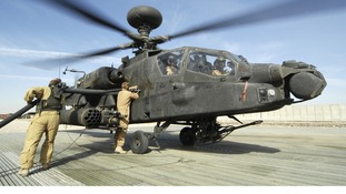 AgustaWestland manufactures Apache combat helicopters for the British Army