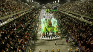 Thousands of revellers gather in Brazil's capital city on Sunday.