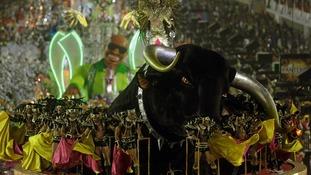 The annual Carnival parade at Rio de Janeiro's Sambadrome.