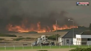 The fire was broadcast live on TV.