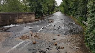 Alfreton Road is flooded