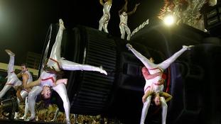 Acrobatics in Rio.
