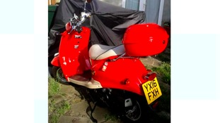 The scooter that had been stolen.