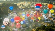 Bristol Balloon Fiesta hot air balloons
