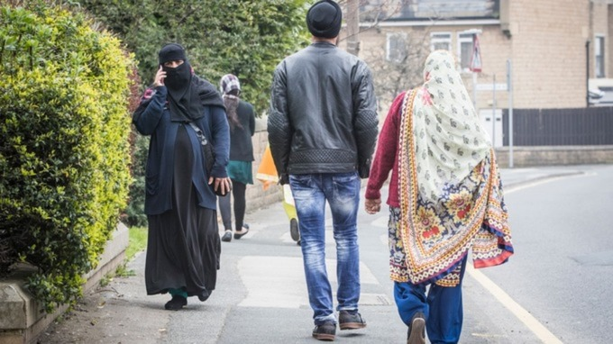 Woman in burka in Bradford