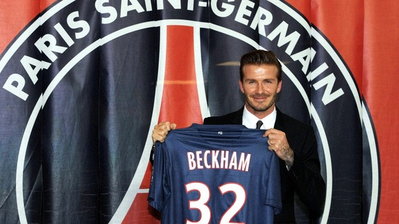 Beckham, 37, will donate his entire Paris St Germain salary to charity.
