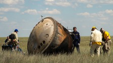 The Soyuz capsule carried Tim Peake to and from the ISS