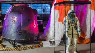 The space capsule, parachute and Tim Peake's space suit will be on display
