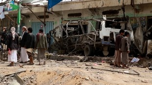 At least 29 children among 50 killed as air strike hits bus in Yemen