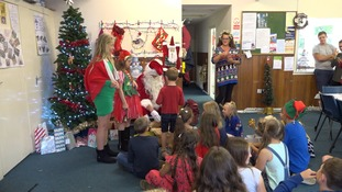 Children from near the Chernobyl site celebrate Christmas in Diss