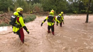 Rescuers in southern France.