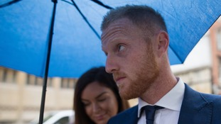 Ben Stokes arrives at Bristol Crown Court on Friday.