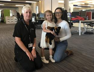 Mila Dobby, her mother and a call handler.