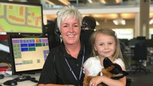 Girl, four, praised for 'saving mother's life' by calling 999 after fall