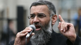 British preacher Anjem Choudary who is in jail for drumming up support for the Islamic State terror group.