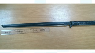 Sword found in Macaulay Road