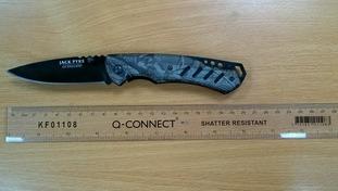 Knife found in Lewsey Farm