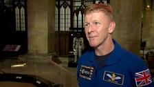 Tim Peake visits Peterborough Cathedral