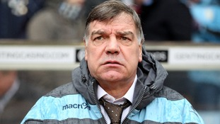 Sam Allardyce watching his team being defeated by Aston Villa at the weekend