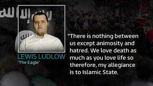 Ludlow pledged allegiance to so-called Islamic State in videos found on his phone.