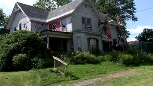 Burnside's home is a shrine to Hitler and the Third Reich.