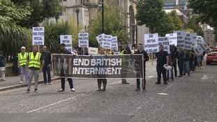 Anti-Internment parade passes peacefully in Belfast