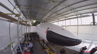 Newly restored Vulcan bomber unveiled in Doncaster
