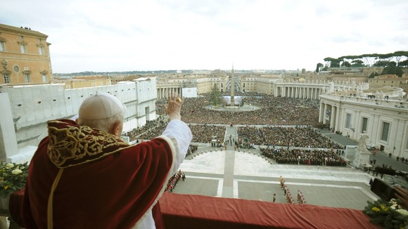 Who will address the crowd from the balcony in St. Peter's Square next?