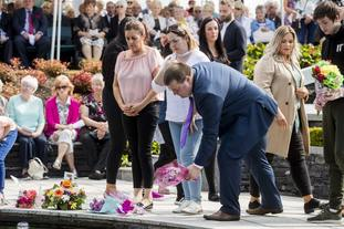 Omagh bomb survivor Gary McGillion during the inter-denominational service