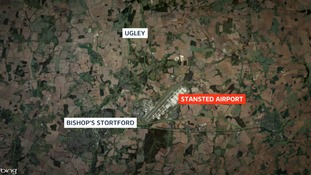 The crash happened at Ugley, two miles north of Stansted Airport.