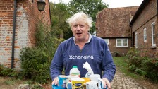 Rather than responding to reporters gathered outside his home, Boris Johnson instead offered them tea.