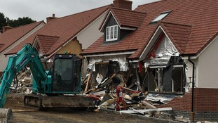The damage was done to retirement homes in Buntingford, Hertfordshire