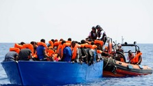 Most of the migrants are from Somalia and Eritrea and include 67 unaccompanied minors.