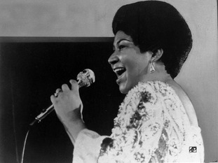Aretha Franklin performs in 1972.