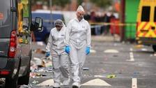 police forensics at scene