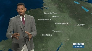 West Midlands weather: Largely dry with clear spells tonight