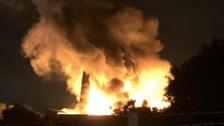 fire at mill in rochdale
