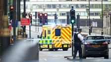 People injured as car crashes into security barriers outside Parliament