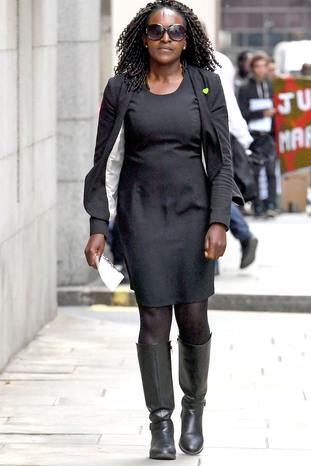 Labour MP Fiona Onasanya arrives at the Old Bailey