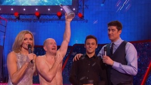 Eddie 'The Eagle' Edwards celebrates his Splash! win