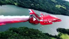 WATCH: The Red Arrows flying over the Lake District