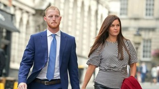Ben Stokes outside Bristol Crown Court.