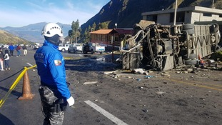 More than 20 people have been killed in a bus crash in Ecuador.