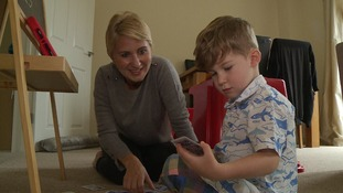 Sophie Saunderson with her son Theo King