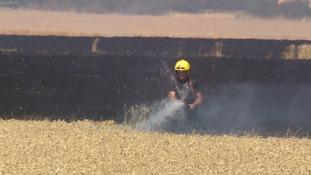 Fire crews tackle a blaze at Oakington